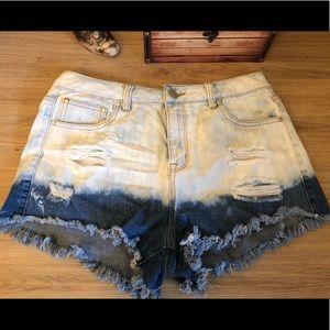 refuge High-Waisted Shorts, Size 8